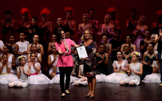 "Homenagem da ""Royal Academy of Dance"""